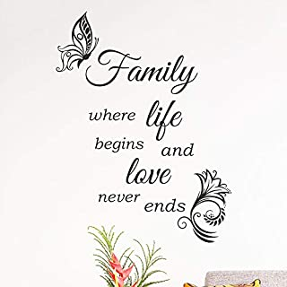 Family Wall Quote Home Love Kitchen Decor Vinyl Sticker Decal Mural Art Tatoo
