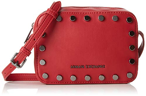 Armani Exchange Damen Small Crossbody Bag Umhängetasche, Rot (Red Shoes), 15x7x20 cm