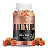 Organic Hemp Oil Extract Gummies - 300MG (10MG/Gummy) Helps Relieve Pain, Stress & Anxiety - Better Sleep - Made with Organic Colorado Hemp, Rich in Omega 3-6-9 & Vitamin E, Non-GMO, Vegan.