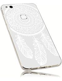 mumbi UltraSlim Hülle für Huawei P10 Lite Schutzhülle transparent im Traumfänger Design (Ultra Slim - 0.70 mm)