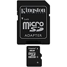 Kingston SDC4/8GB - Tarjeta microSD de 8 GB, color negro