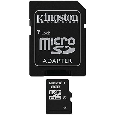 Kingston SDC4/8GB - Tarjeta microSD de 8 GB, color negro