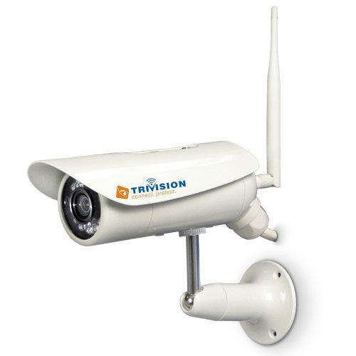 TriVision Outdoor HD 1080P IP Kamera Tag/Nacht Netzwerkkamera Camera 15m IR cut filter Nachtsicht Plug and Play,PoE Wifi Sicherheit H.264 IP Fern Überwachung Security Camera Outdoor SD Karte DVR,Bewegungsmelder unterstützt Iphone Android (Outdoor Nacht Kamera Sicherheit)
