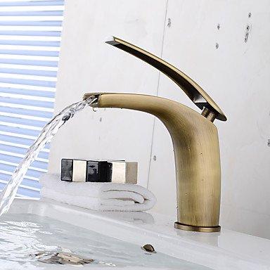 SUNNY KEY-Waschbecken Wasserhahn @ Antike Einhand ein Loch Badezimmer Waschbecken Faucet(Short)