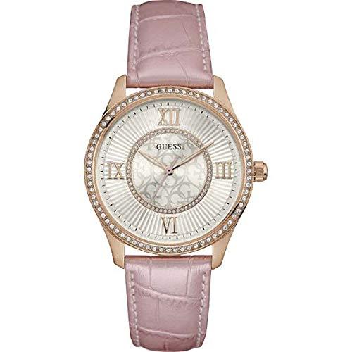 Guess Damen Analog Quarz Uhr mit Leder Armband W0768L3