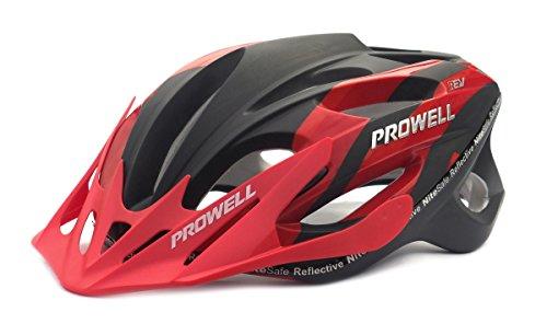 Prowell-F59R-Vipor-F59R-Casco-de-ciclismo-Edge-negro-y-rojo-Talla-M-55-61-cm