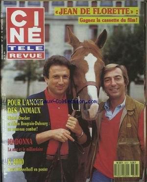 CINE TELE REVUE [No 37] du 10/09/1987 - MICHEL DRUCKER ET ALLAIN BOUGRAIN-DUBOURG - MADONNA - K 2000 - DAVID HASSELHOFF.