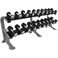 Heavy duty mancuernas Studio juego de 5 - 27,5 kg (10 pares) vs, Oval-line estante/rack