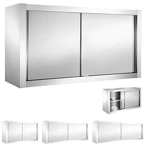 V2Aox Edelstahl Gastro Wandschrank Hängeschrank Wandhängeschrank Schiebetür, Größe:120 x 65 x 40 cm