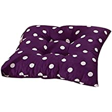 Koly® Indoor Patio Home Office Decor Polka Dot Chair Pads Seat Pads Cushion Gift (Purple)