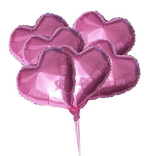 Rosa Herzform Luftballons 18 zoll Liebe Ballons für Hochzeit Geburtstag Party Dekorationen ()