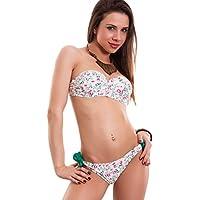 Toocool - Bikini donna costume da bagno ferretto FIORI incrocio due pezzi nuovo SE88097