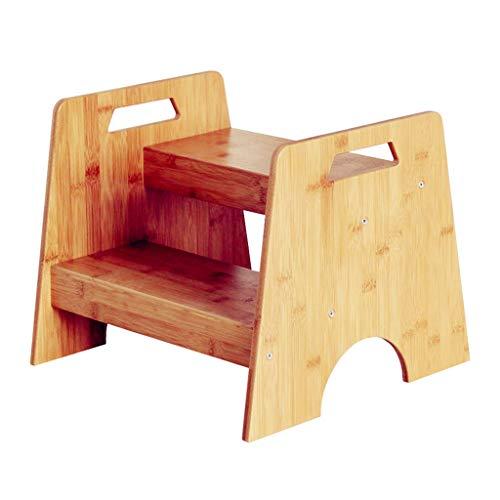 Qujifangtd Tritthocker, Tragbar Hölzern Sitz Trittleiter Kinder Stuhl Stepper Fußbank Holz Regal