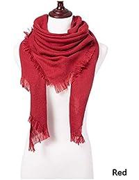 ZXXWJ Écharpe d hiver Vêtements De Luxe en Cachemire Foulards Foulard  Solides Femmes Dropshipping Bandage 2d119de723e
