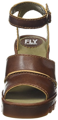FLY London ROSE643FLY, Sandales Compensées femme Marron - Marron (clair)
