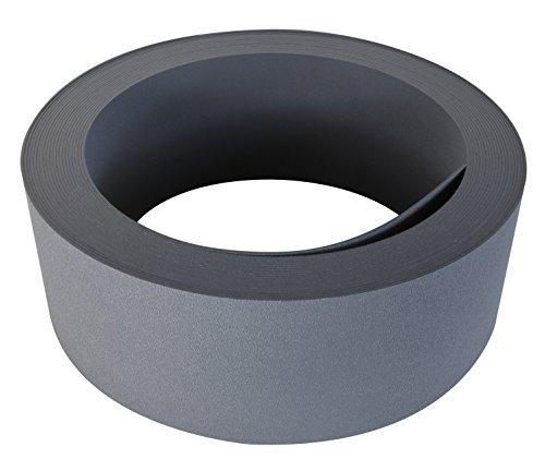 Windhager Rasenkante Strong, PP-Kunststoff Beetumrandung, Beeteinfassung, Mähkante, Anthrazit, 10 m x 12 cm, 06816, 10m x 12cm