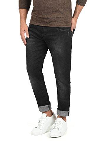 Indicode Quebec Herren Jeans Hose Denim Aus Stretch-Material Regular Fit, Größe:W34/34, Farbe:Black (999)