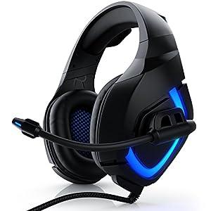 CSL – Gaming Headset für PC Xbox One Xbox One S Xbox One X PS4 PS4 Pro – Klinkenanschluss 3,5mm – Klinke Kopfhörer mit…