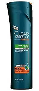 CLEAR MEN SCALP THERAPY Anti-Dandruff Shampoo Cool Sport Mint 12.9 Fluid Ounce