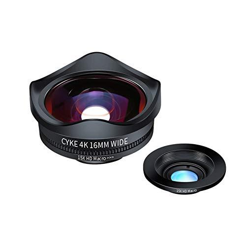 GKPLY Ultra-Weitwinkel 15X Makro-Handy-Objektiv Live SLR Photography Externe HD-Spezialeffekte Vibrierende Linse