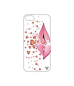 Vogueshell Hearts Printed Symmetry PRO Series Hard Back Case for Apple iPhone 5s