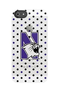 Uncommon Llc Northwestern University Polka Dots Frosted Deflector Hard Case For Iphone 5/5S - Retail Packaging...