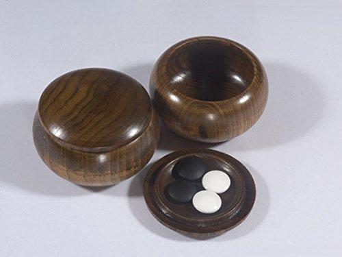 Go-Spiel: 9x9-Holzdosen, Esche