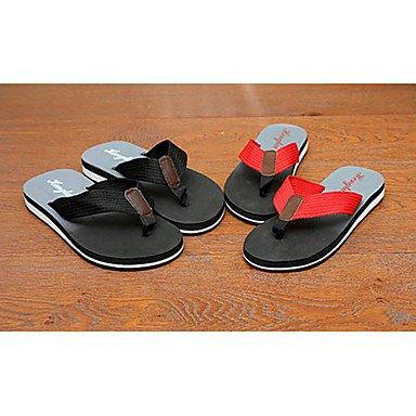 Slippers & amp da uomo;Comfort Tessuto Estate Outdoor casual Tallone piano Nero Giallo Verde Walkin sandali US7.5 / EU39 / UK6.5 / CN40