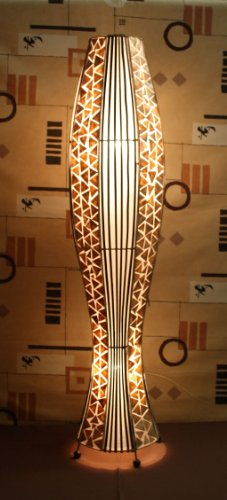 Asiatische Stehleuchten Udon Gold L (LA22-06/GO/L), Stehlampen, Designer Stimmungsleuchten, Bali (6 Licht Bali)