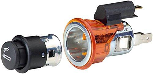 HELLA 8EZ 008 021-021 Universal-Zigarettenanzünder mit Beleuchtung, Einbau Ø 28 mm mittels Spannhülse, Flachsteckeranschluss, 12 V