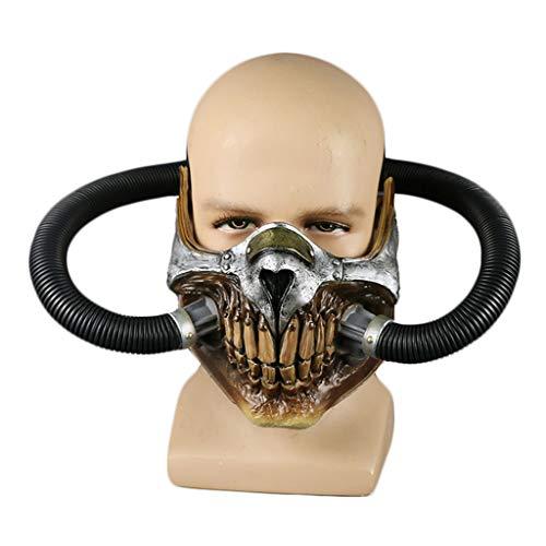 K-Flame Masken Halloween COS Requisiten Erwachsene Kostüm Zubehör Verrückte Max Helm Prop Maskerade Cosplay Partei Geistermaske,Black,19X16cm