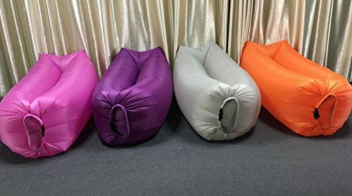 ZERUU® Aufblasbarer Strandliege-Luftschlafsack-im Freiensofa Bequemer aufblasbarer Aufenthaltsraum-bewegliche Kompression Sofa-Luft-Beutel-im Freien Kompressions-Luft-Betten, beweglicher Stuhl, Luftmatratzen Beds.Ideal für das Lounging (Green) - 2