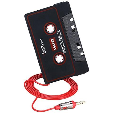 Reshow Adaptateur Cassette pour Voitures - Écoutez des iPods, des Smartphones, des lecteurs MP3 ou un Walkman dans un lecteur cassettes de véhicule standard - Convertisseur Vintage / Musique Rétro