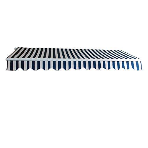 DEMA Alu-Markise blau/weiß 3 x 2,5 m