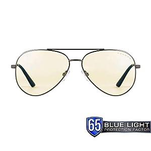 Gunnar Gaming- und Computerbrillen|Maverick|Schutzbrille |Patentierte Linse, 65% Blaulichtschutz, 100% UV-Lichtschutz, Antireflex zur Reduzierung der Augenbelastung und Vorbeugen trockener Augen
