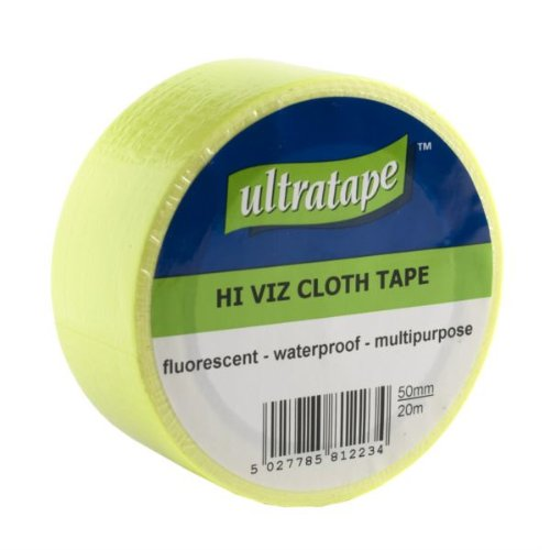 Panno Tape Hi-Viz Fluorescente Giallo (Impermeabile) 20mx50mm 1 Pacchetto / S