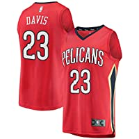 KQOCNBA NBA Pelicans Anthony-Davis 23 Fan Men Jersey (Rojo, S)