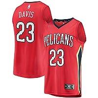 KQOCNBA NBA Pelicans Anthony-Davis 23 Fan Men Jersey (Rojo, S)