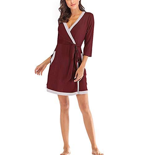 Pijama Holgado Modal para Mujer, Kimono para Mujer Sexy y Elegante, Vestido...