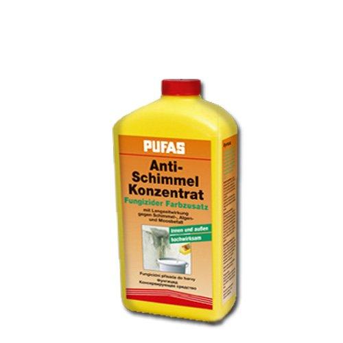 Pufas Fungizid Anti Schimmel Farbzusatz gegen Schimmel- Algen- Moosbefall (auch Kleisterzusatz Kleberzusatz) 250ml
