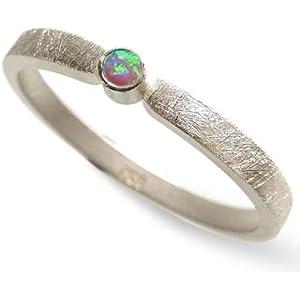 Silberring mit einem blau-grünen Opal - Verlobungsring, Vorsteckring, Beisteckring - handgefertigt by SILVERLOUNGE