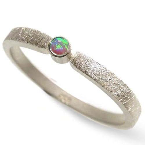 Silberring mit einem blau gr nen opal verlobungsring - Verlobungsring blau ...