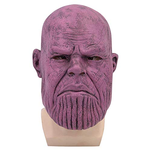 Avengers 4: Thanos Maske Halloween Cosplay Kostüm Full Head Latex Helm Movie Replica Adult Kostümzubehör,A-OneSize (Film Der Full Halloween Movie)