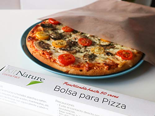 Kit Nature Bolsa Hornear Pizza - Pack 1 Bolsa Reutilizable