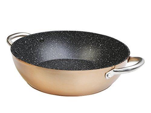 WeCook 10832 Cazuela de Cocina Inducción Profesional, Cacerola Antiadherente, Libre de BPA, 32 cm, Aluminio Forjado