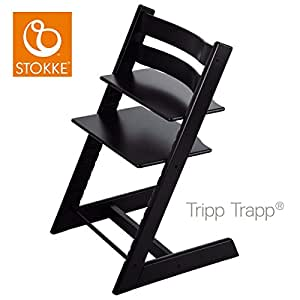stokke 100103 kinderstuhl hochstuhl tripp trapp schwarz baby. Black Bedroom Furniture Sets. Home Design Ideas