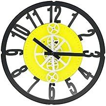Shengdasm Reloj de Pared Reloj de Engranaje electrónico Relojes de Moda Cuarzo Sala de Estar Reloj