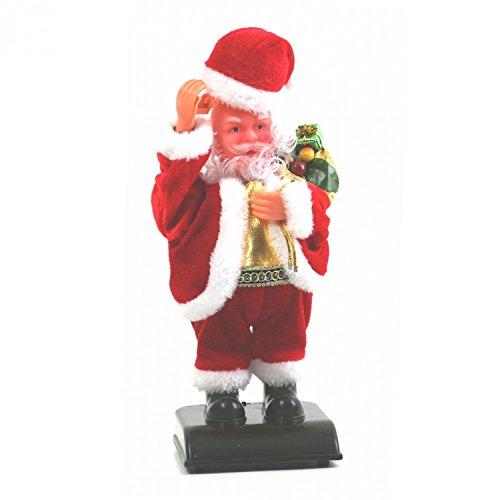 Père Noël automate avec chapeau et Sac cadeaux