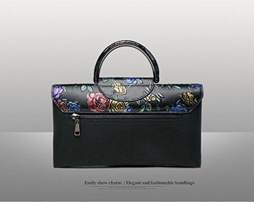Home Monopoly Sacchetto di spalla della borsa dell'atmosfera di stile nazionale di cuoio della borsa delle signore / con la cinghia di spalla ( Colore : #D ) #A