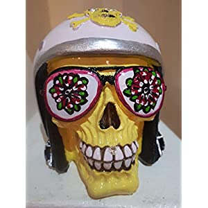 Handgefertigte Spardose Sunny Skull